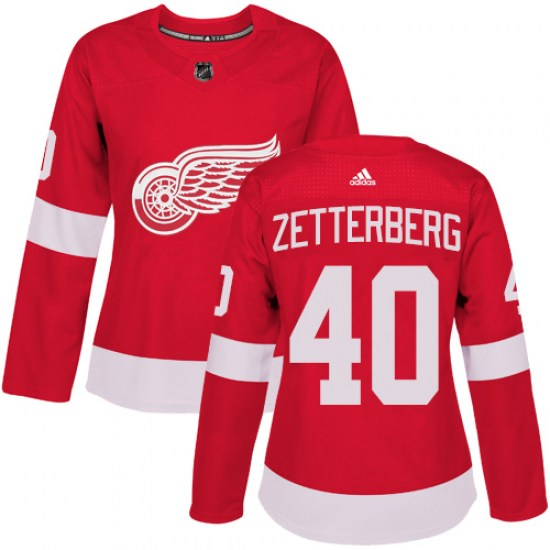 Henrik Zetterberg Detroit Red Wings Women's Authentic Home Adidas Jersey - Red