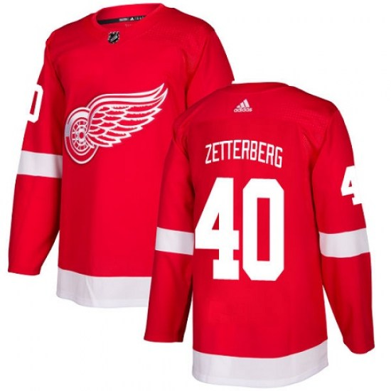 Henrik Zetterberg Detroit Red Wings Youth Authentic Home Adidas Jersey - Red