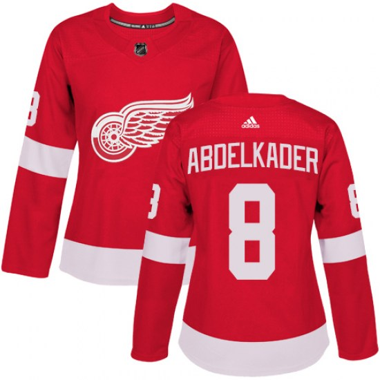 Justin Abdelkader Detroit Red Wings Women's Authentic Home Adidas Jersey - Red