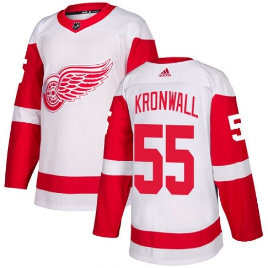 Niklas Kronwall Detroit Red Wings Youth Authentic Away Adidas Jersey - White