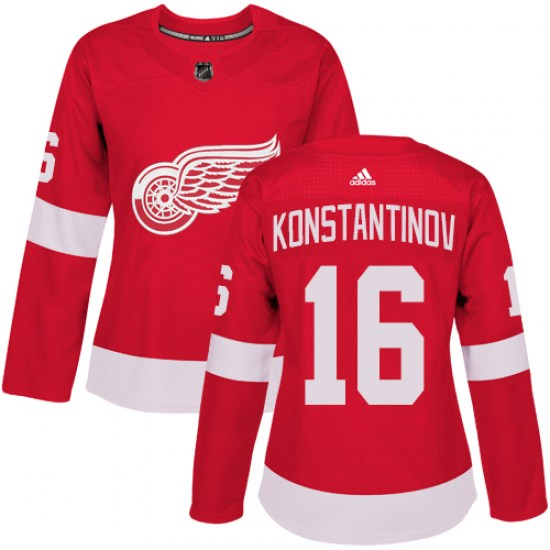 Vladimir Konstantinov Detroit Red Wings Women's Authentic Home Adidas Jersey - Red