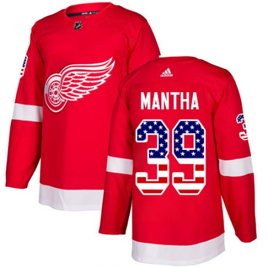 Anthony Mantha Detroit Red Wings Authentic USA Flag Fashion Adidas Jersey - Red