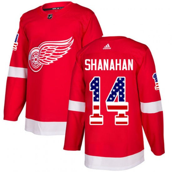 Brendan Shanahan Detroit Red Wings Authentic USA Flag Fashion Adidas Jersey - Red