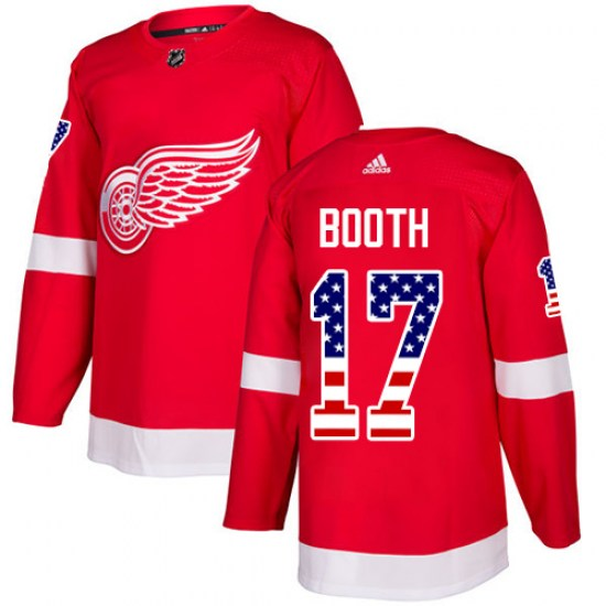 David Booth Detroit Red Wings Authentic USA Flag Fashion Adidas Jersey - Red