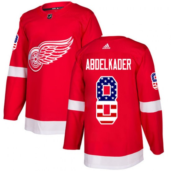 Justin Abdelkader Detroit Red Wings Authentic USA Flag Fashion Adidas Jersey - Red