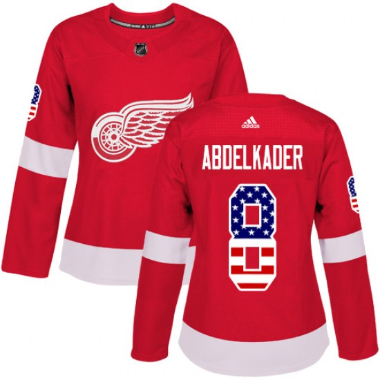 Justin Abdelkader Detroit Red Wings Women's Authentic USA Flag Fashion Adidas Jersey - Red
