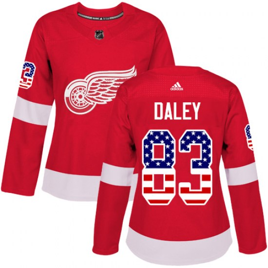 Trevor Daley Detroit Red Wings Women's Authentic USA Flag Fashion Adidas Jersey - Red